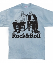 Grappig heren t-shirt rock roll