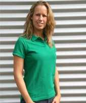 Gras groen dames poloshirts