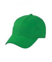Grasgroene baseball cap van katoen