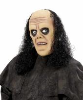 Griezelig masker met zwarte krullen