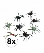 Griezelige spinnen 8 stuks 10 cm