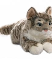 Grijs katten knuffeltje 35 cm