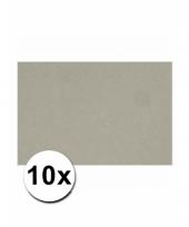 Grijs knutsel karton a4 10 stuks