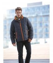 Grijs met oranje heren jasje light weight