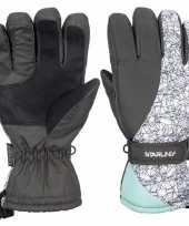 Grijs wit mintgroene starling noel ski handschoenen taslan voor jongens meisjes