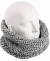 Grijze heren winter sjaal rond