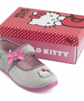 Grijze kindersloffen van hello kitty