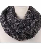 Grijze melee pluche ronde sjaal voor volwassenen