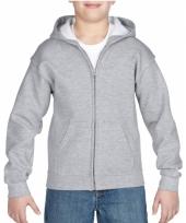 Grijze sweatshirt met rits voor jongens