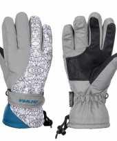 Grijze witte starling mirre ski handschoenen taslan voor jongens meisjes