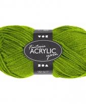 Groen acryl 3 draads garen 80 meter