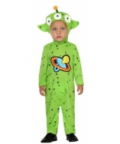 Groen alien pakje voor peuters