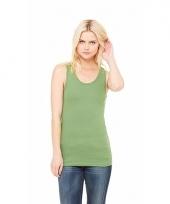 Groen dames shirt zonder mouwen