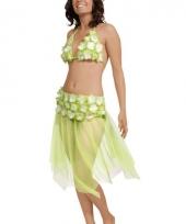 Groen hawaii bikini en rokje
