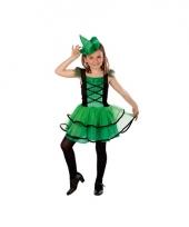 Groen heksenkostuum voor meisjes