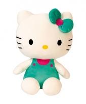 Groen hello kitty knuffels 30 cm