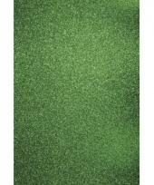 Groen hobbykarton met glitters