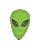 Groen masker alien van plastic