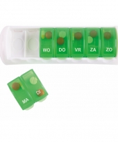 Groen medicijnen doosje 7 daags