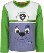 Groen shirt met rocky van paw patrol