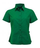 Groen shortsleeve dames overhemd
