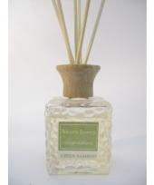 Groene bamboe geur olie verspreider met stokjes 80 ml
