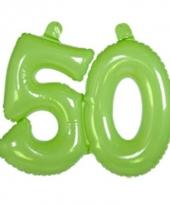 Groene cijfers 50 opblaasbaar