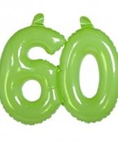 Groene cijfers 60 opblaasbaar