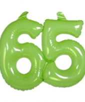 Groene cijfers 65 opblaasbaar