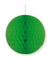 Groene decoratie bal 10 cm brandvertragend