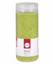Groene decoratie zandkorrels fijn