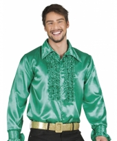 Groene disco blouse voor heren