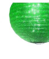 Groene glitter lampionnen 25 cm