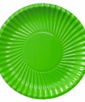 Groene kartonnen borden 29 cm