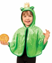 Groene kikker poncho voor peuters