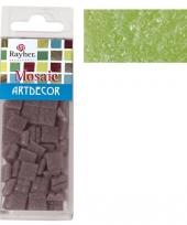 Groene mozaiek steentjes in doosje