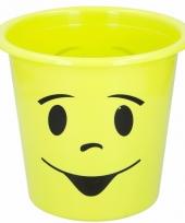 Groene prullenbak met smiley
