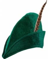 Groene robin hood hoed 10055232