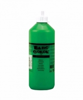 Groene schoolverf in tube 500 ml