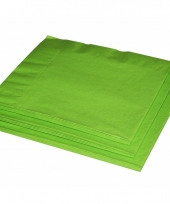 Groene servetten 20 stuks