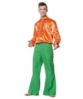 Groene seventies broek voor heren