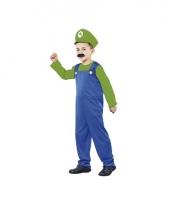 Groene super loodgieter kostuum kids