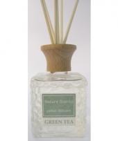Groene thee geur olie verspreider met stokjes 80 ml