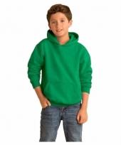 Groene trui met capuchon voor jongens