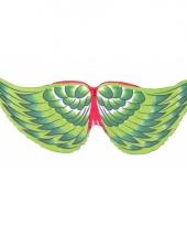 Groene veren vleugels voor kinderen