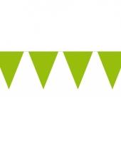 Groot formaat lime groene vlaggenlijnen