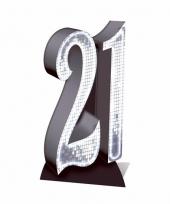 Groot nummer 21 decoratie bord