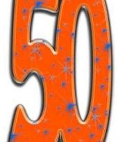 Groot nummer 50 decoratie bord