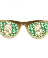 Grote bril goud met dollar tekens