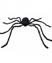 Grote halloween decoratie spin 125 cm